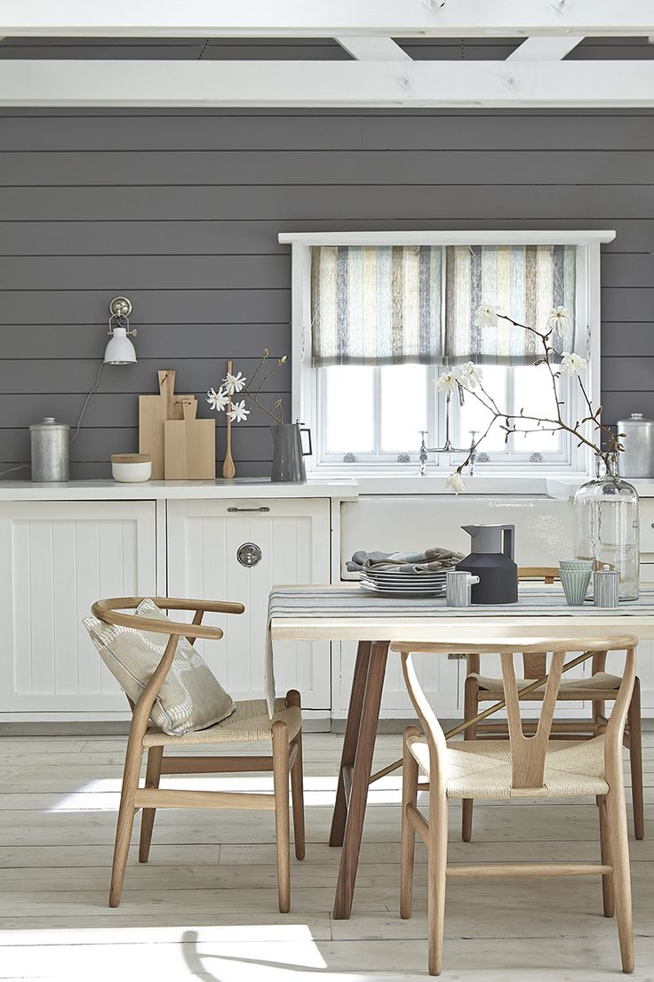 Swedish Style: Our lovely Scandi Cool fabric seen here in a Swedish Blind. This fabric is perfect as no lining is required.