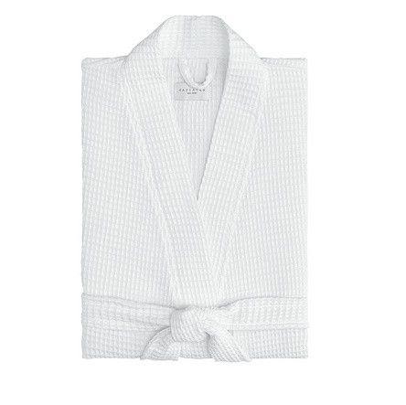 Hotel Kimono Waffle Robe   White