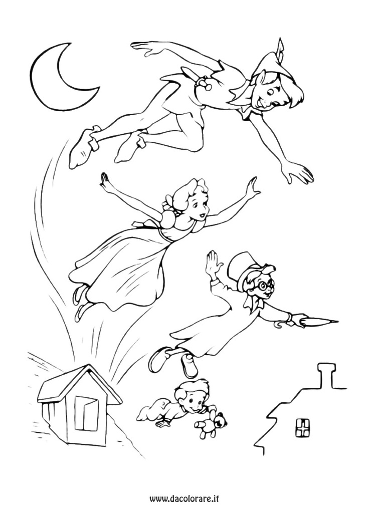 guarda tutti i disegni da colorare di peter pan coloring pages 14