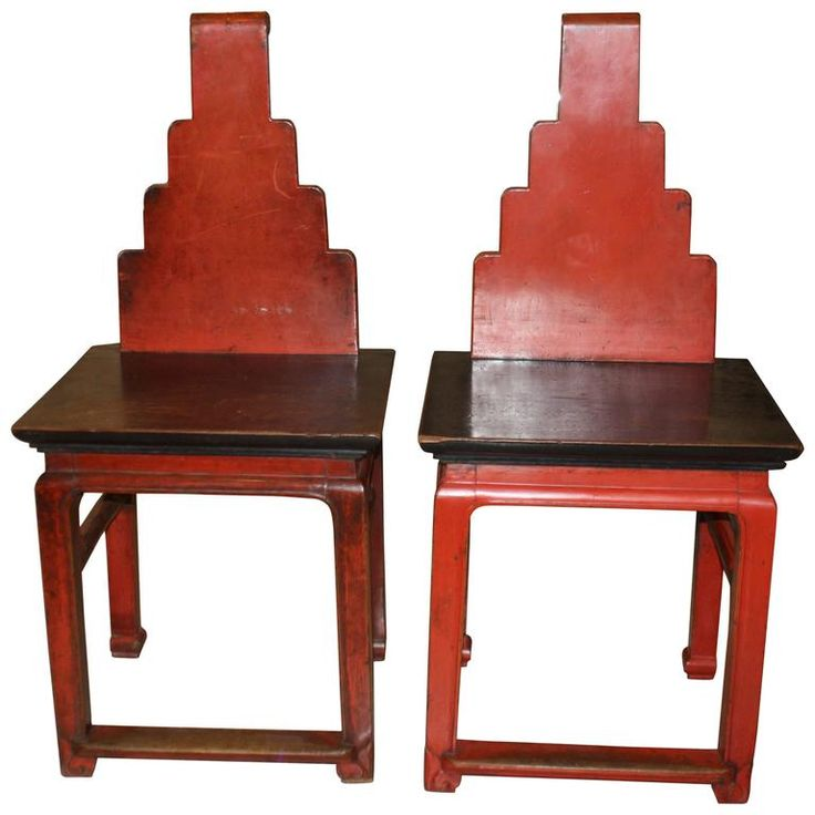 Pair of 1940s Asian Chairs   See more antique and modern Side Chairs at https://www.1stdibs.com/furniture/seating/side-chairs