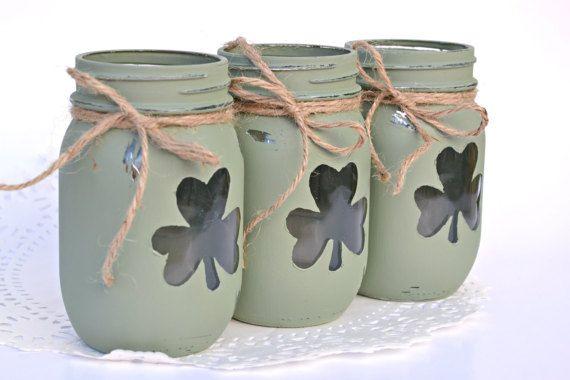 St Patricks Decor St Patricks Day Shamrock by PaintedPaintbrush