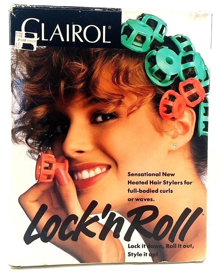 Clairol Lock N Roll 1989 Heated Hair Curlers Rollers W Box Manual Model Bt 1 Stuff Things70 Ebay Pinterest