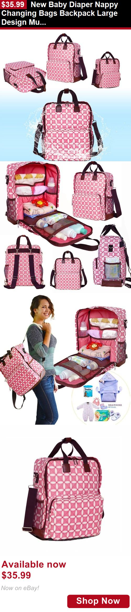 Baby Diaper Bags: New Baby Diaper Nappy Changing Bags Backpack Large Design Multi Ways Waterproof BUY IT NOW ONLY: $35.99