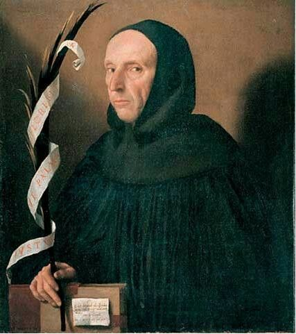 Moretto da Brescia (1498–1554)   Portrait of a Dominican, Presumed to be Girolamo Savonarola  Date1524Mediumoil on canvasDimensionsHeight: 74 cm (29.1 in). Width: 66 cm (26 in).Current location  Castelvecchio Museum