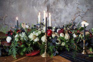 Цветочное оформление с свечами