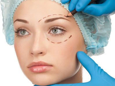 Cosmetic surgery such as facelifts, brow lifts and blepharoplasty surgery can lift and tighten the skin of the face, neck.