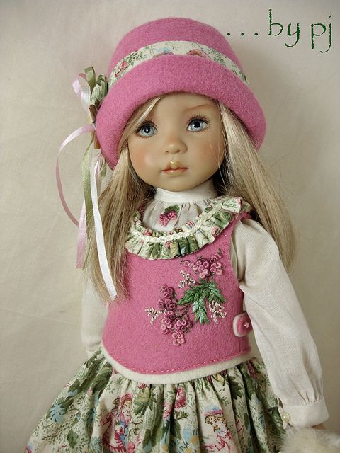 Dress Ups by PJ ... Young Love for Effner Little Darlings - Vest closeup | Flickr - Photo Sharing!