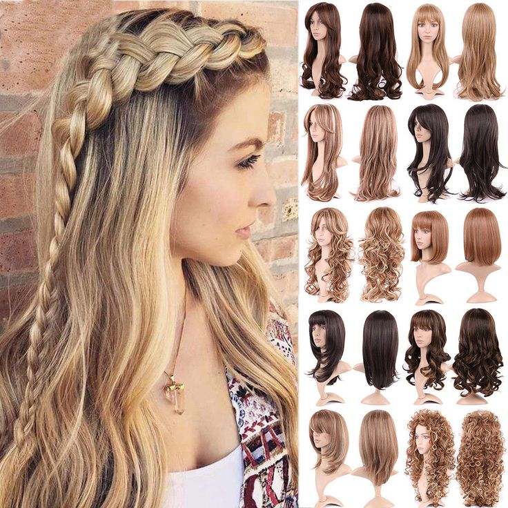 Brilliant Ombre Party Full Wig Long Straight Curly Wavy Wigs Black Brown Blond N #Unbranded #ombre