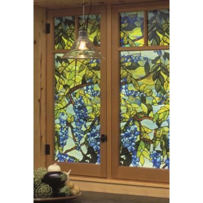 7 best faux stain glass images on pinterest leaded glass for Make your own stained glass window film