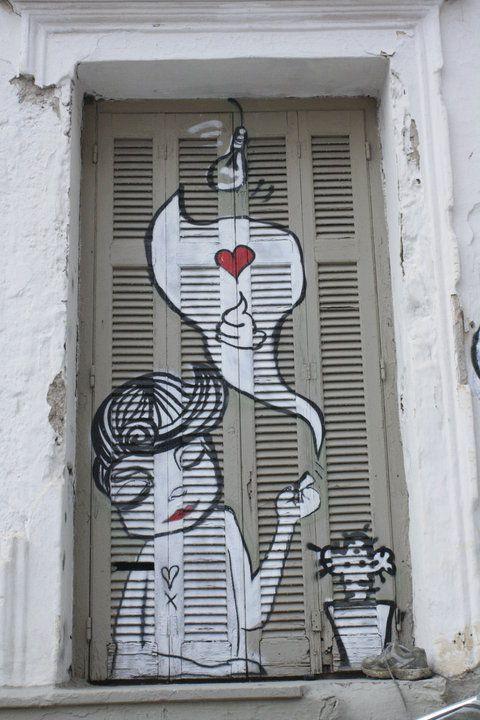 Trying to think of a way to do a backyard graffitti wall... by Kostas Tsakalos.