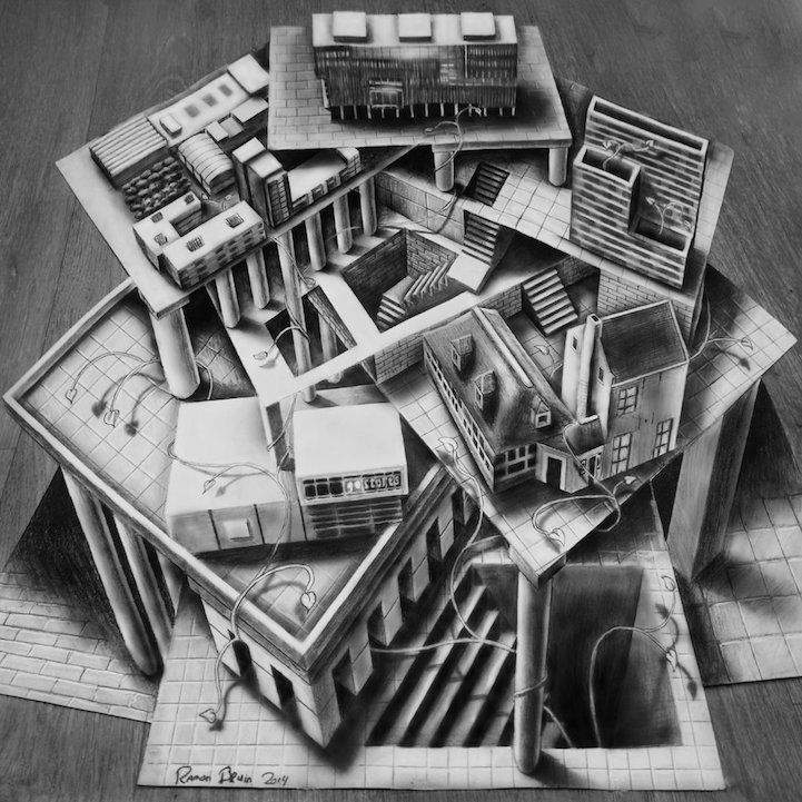 Best Illusion drawings ideas on Pinterest