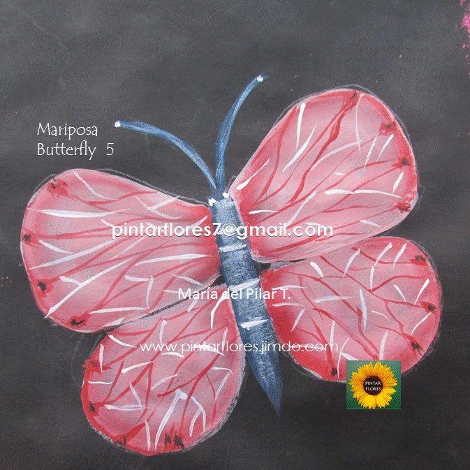 Videos de mariposas en pintura acrilica. Faciles, rapidos y didacticos.