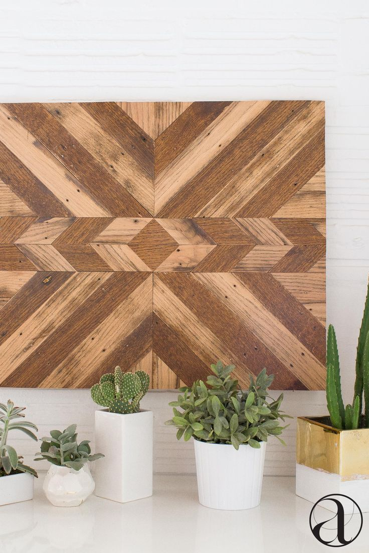"Art that's not ""art."" This handcrafted, reclaimed wood wall hanging amps up your décor in the simplest way possible. Shop now."