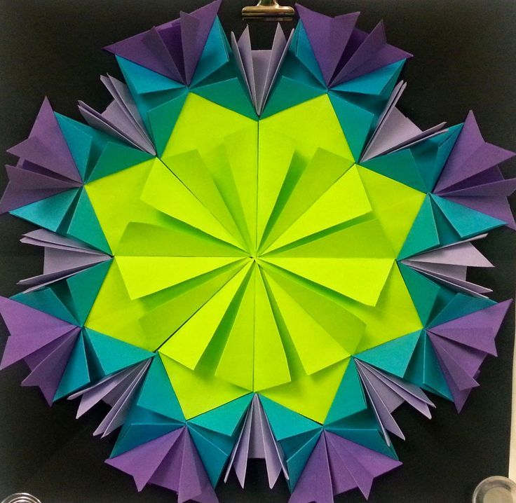 Art with Ms. Gram: Radial Paper Relief Sculptures (4th/5th) with links to folding videos