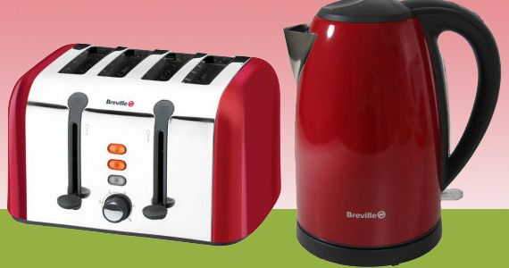 Win a Breville Stainless Steel Kettle and Toaster