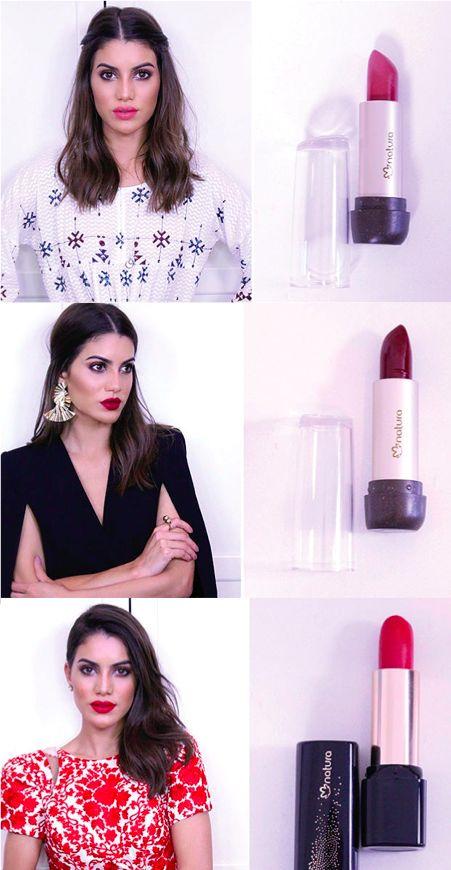 Camila Coelho mostra como geralmente escolhe as cores de batons que usa cada dia da semana e também como combina com o seu look do dia.  Ela selecionou alguns de seus batons favoritos da Natura para ajudar nessa missão!