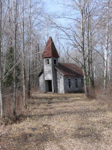 Abandoned Estonian Church in Lincoln County, Wisconsin