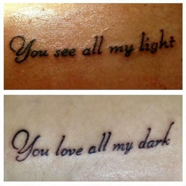 Tattoo Quotes For Husband And Wife: 17 Best Couple Tattoo Quotes On Pinterest