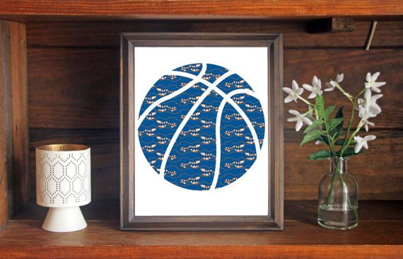 This colorful University of Florida Basketball print is an original pattern, designed with the Florida Gators colors and symbols in mind. This print come in a variety of sizes (please see drop down menu on the right).  This print can come with or without the words, Florida Gators (please see drop down menu on the right).  This unique Florida Gators Basketball print looks great by itself, or on a gallery wall with other prints. It would be a perfect gift for holidays, birthdays, or…