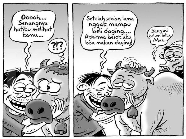 Kartun Benny, Kontan - September 2015: Akhirnya Bisa Makan Daging Lagi