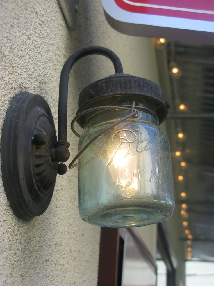 Loved this repurposed ball jar light