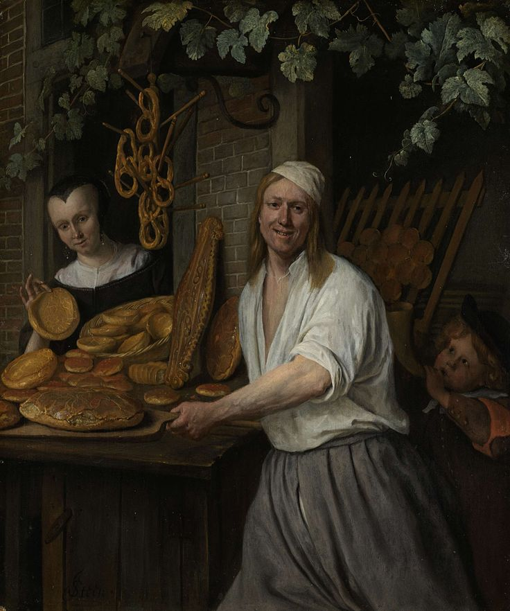 The Baker Arent Oostwaard and his Wife, Catharina Keizerswaard, Jan Havicksz. Steen, 1658