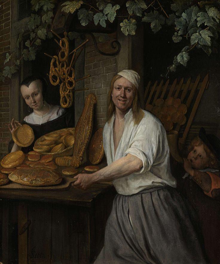 The Baker Arent Oostwaard and his Wife, Catharina Keizerswaard, Jan Havicksz. Steen, 1658