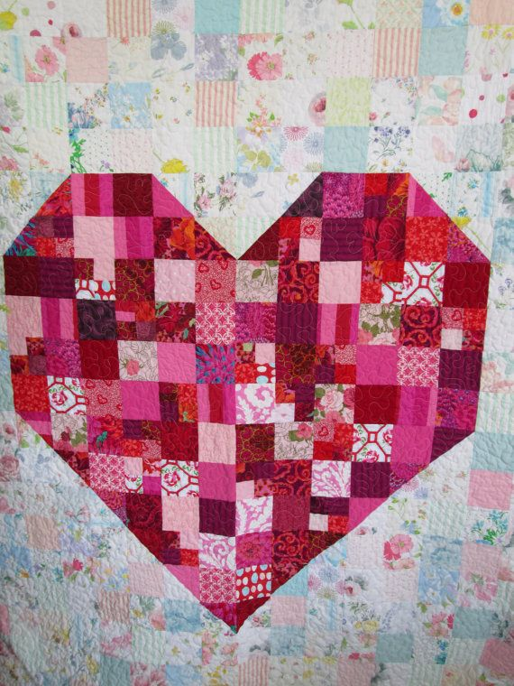 Quilt, Wedding Gift Quilt, Anniversary Quilt, The I Love You Quilt ...
