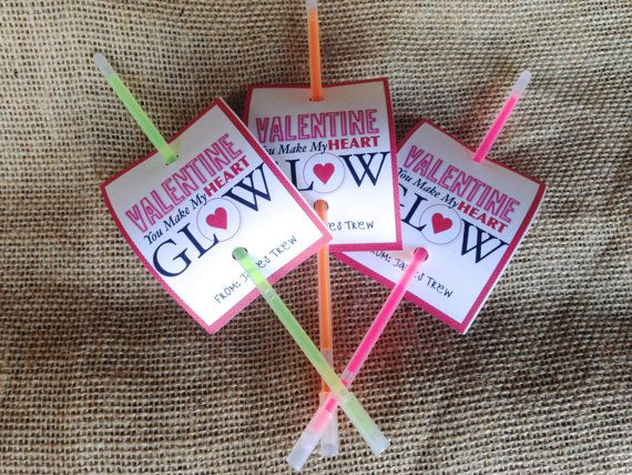 Easy and Fun Glow Stick Valentine Printable Cards |Pinterest Glow Stick Valentines