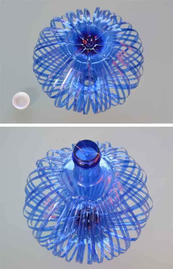 17 best images about dise os con material reciclado on - Como hacer una lampara de techo ...