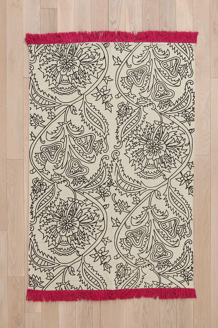 Magical Thinking Floral Outline Rug #urbanoutfitters