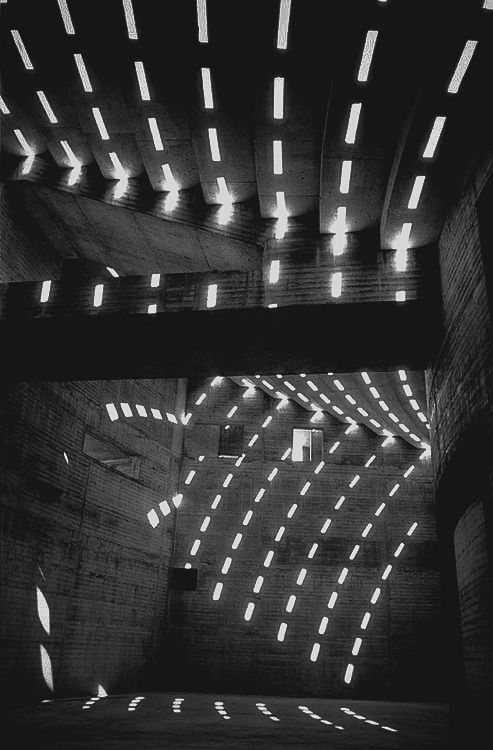 architectureuberalles:  Sun patterns within the Sydney Opera House photographed by David Moore, 1962.