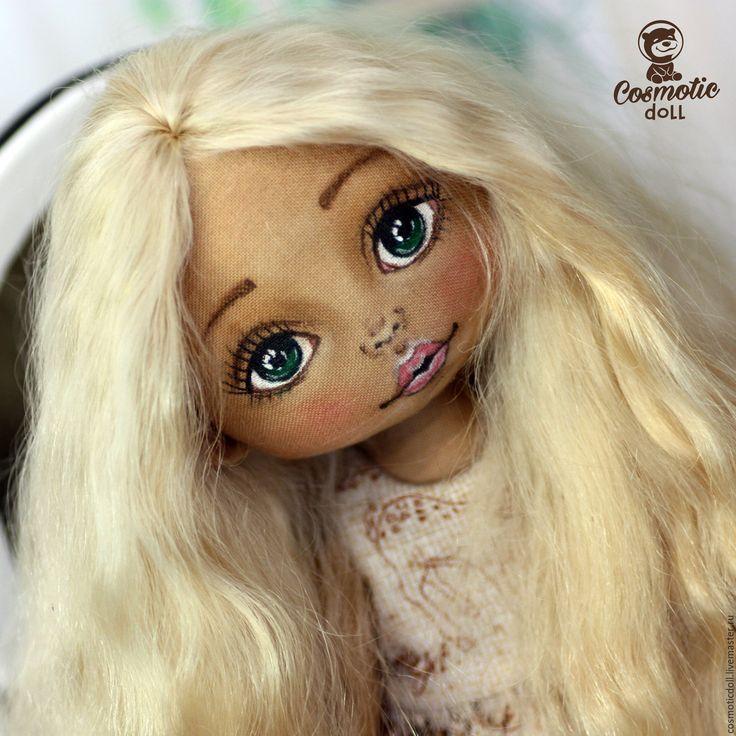 Купить Коллекционная текстильная кукла - загарелый текстиль, загарелая кукла, текстильная кукла загар
