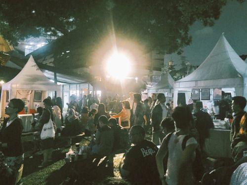 Pecinta kopi berkumpul di halaman @bentarabudaya malam ini...