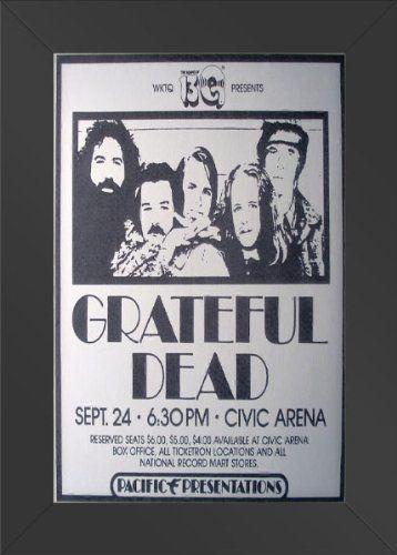 11x17 FRAMED Poster Print Grateful Dead at the Civic Arena Innerwallz// & 11 best Grateful Dead Wall Decor images on Pinterest | Concert ...