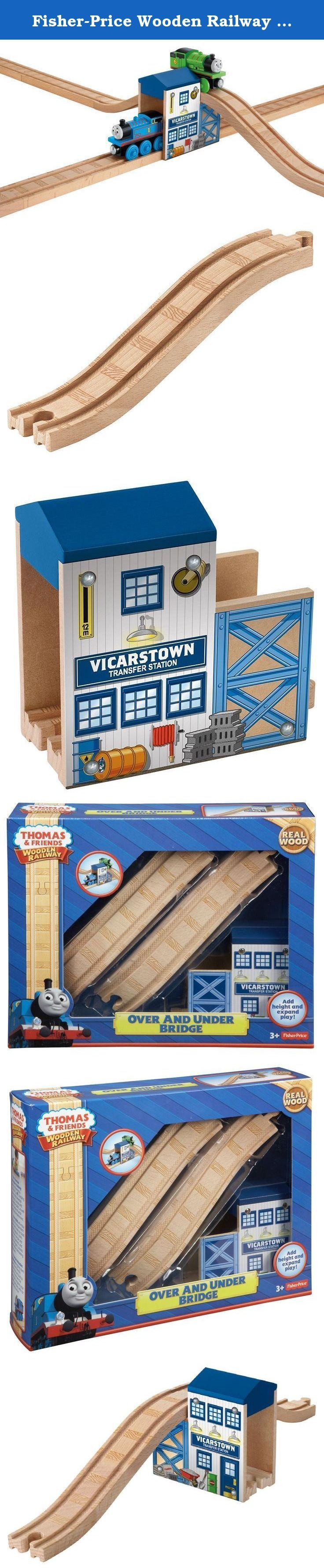 Fisher-Price Wooden Railway Over and Under Bridge. Expand your Wooden Railway with over-under play as you send your engines to the Vicarstown Transfer Station! 3+.