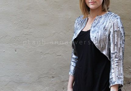 Free pattern: Sequined bolero