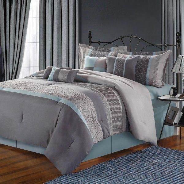 Rast Comforter Set Blue And Grey Bedding Comforter Sets Bedding Sets Grey