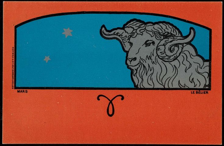 Series: Les Signes du Zodiaque (The Signs of the Zodiac). Illustrations of each sign. Front: Dietrich & Cie. Bruzelles Editeurs. Bruxelles Back: undivided. Mint.