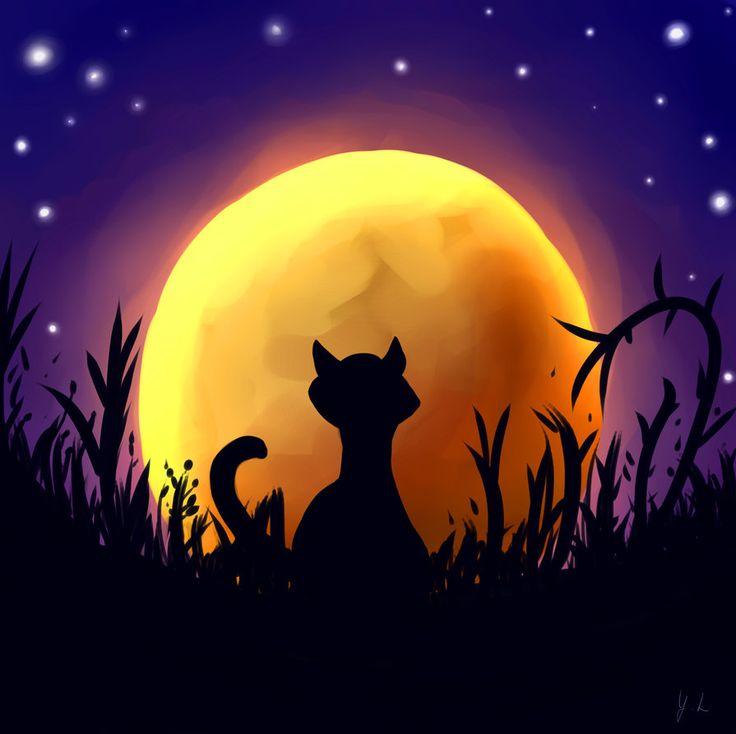 Mooncat by YunaLoire