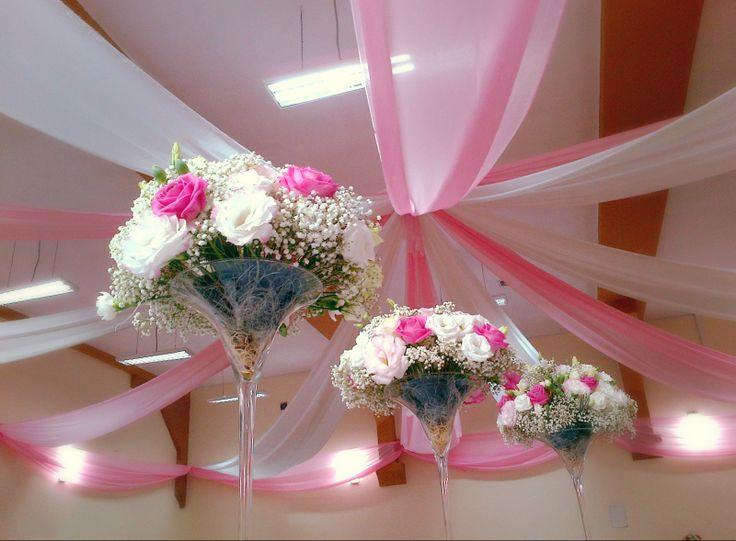 Dekoracja sali weselnej  www.floreon.pl