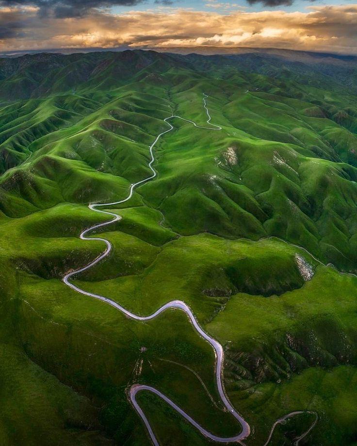 """Incredible aerial shot taken over Bakersfield, California!! (:@_n33zy_)"