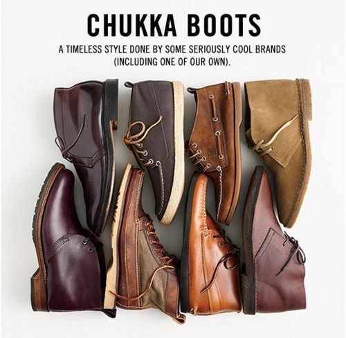 Chukka Boots... for the winter