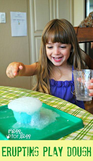 Erupting Play Dough - A baking soda based play dough that erupts when kids add vinegar.