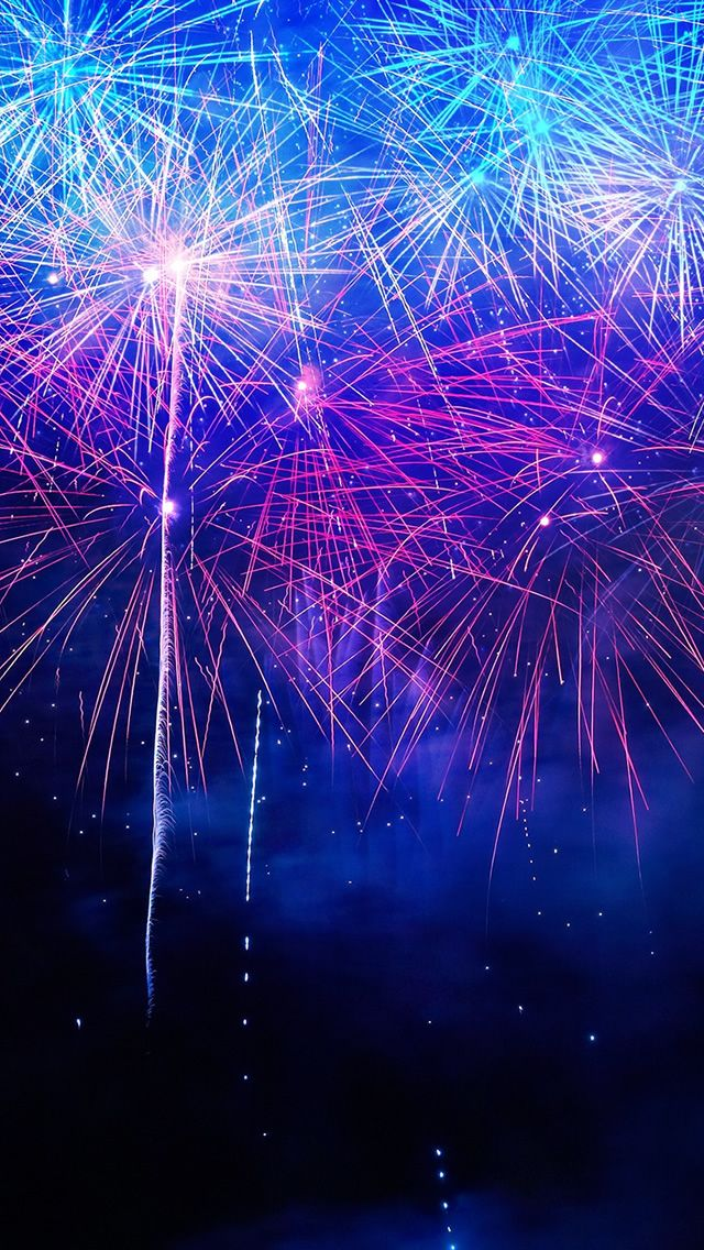 Coloful Fireworks #iPhone #5s #wallpaper