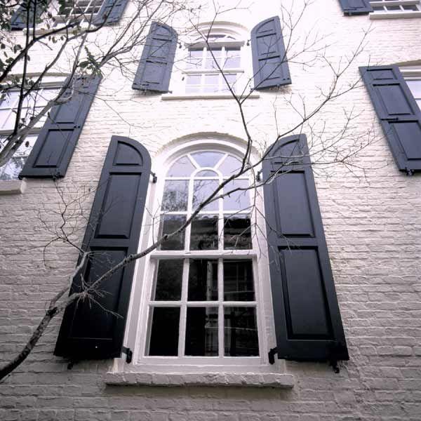Exterior Shutters For Windows Arched Beaded Panel V Groove Panel Rabbeting Beading Tilt Rod
