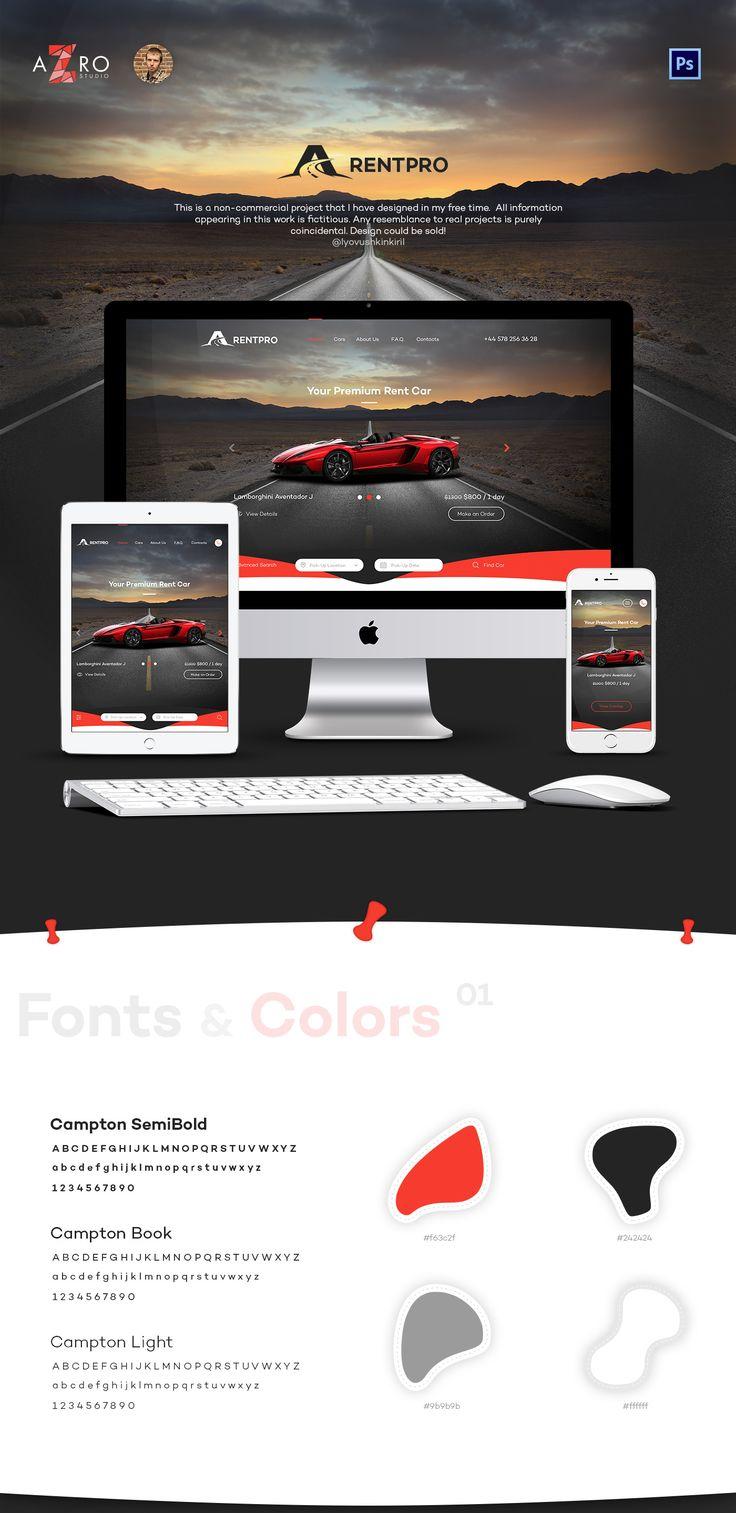 RentPro - Car Dealer's Website on Behance