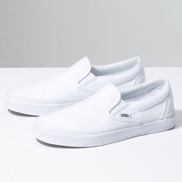 Vans Shoes | Brand New White Slip On
