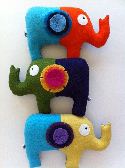 CUSTOM-Sweet Elephant Tooth Fairy Pillow Your by claraiuribe