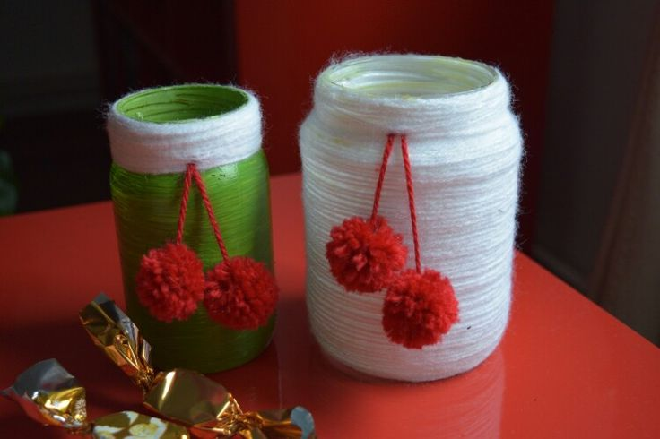Decoemrative Christmas vases